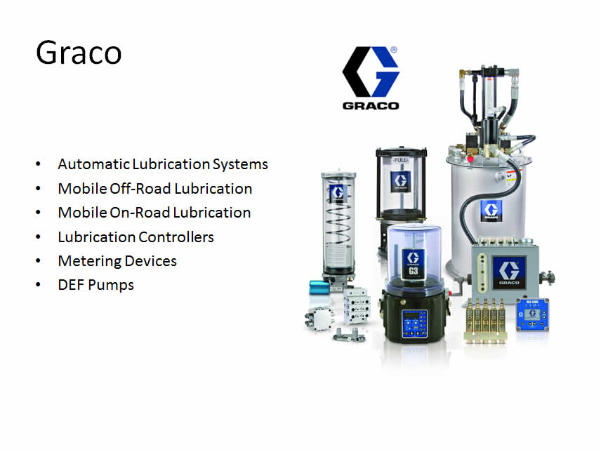 Automatic Lubrication Systems Application Equipment